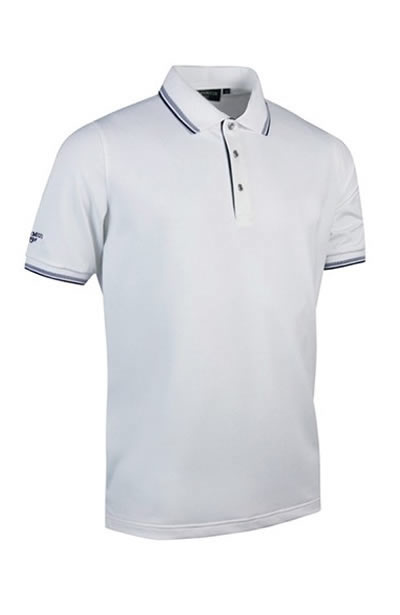 Ethan – Glenmuir Men's Herringbone Tipped Performance Pique Polo Shirt